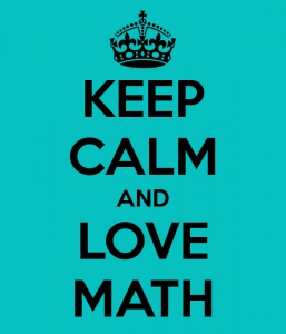 Keep calm and love matemática